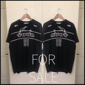 Givenchy 4G logo tour t shirt